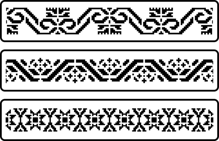 Mexican Embroidery Border Stencil