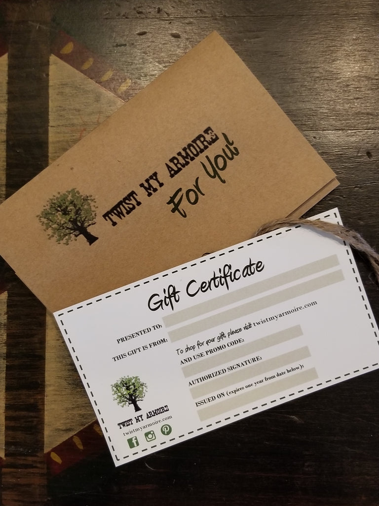 Gift Certificate - Twist My Armoire