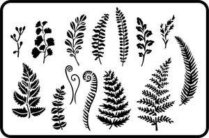 Ferns and Greenery Stencil - Twist My Armoire