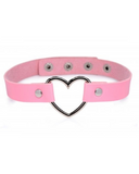 XR Brands Collar Master Series Heart Choker Necklace - Pink