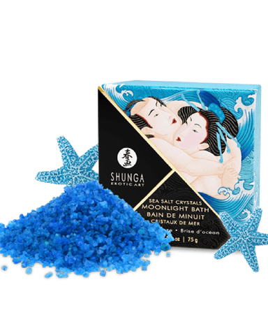 Shunga Bath Additives Moonlight Bath Sea Salt Crystals - Ocean Breeze Scent 75g