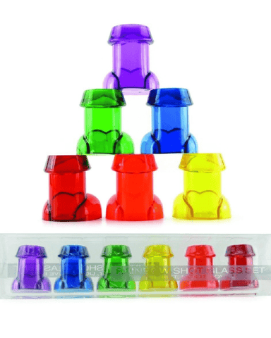 Kheper Games Game Rainbow Penis Shot Glass Set