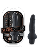 Blush Novelties Dildo Silicone Willy's  6.25 Inch Cowboy Vibrating Dildo - Black