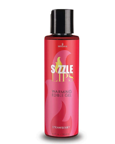 Sensuva Stimulation Gel Sizzle Lips Strawberry Warming Gel 4.2oz