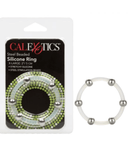 CalExotics Cock Ring Steel Beaded XL Silicone Cock Ring