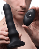XR Brands Anal Toy Thunderplugs Vibrating & Squirming Silicone Plug with Remote Control