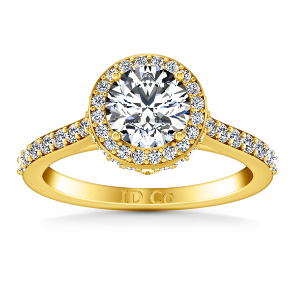 Halo Engagement Ring Milana 14K Yellow Gold