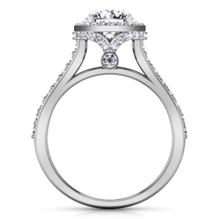 Halo Engagement Ring Milana 14K White Gold