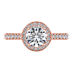 Halo Engagement Ring Milana 14K Rose Gold