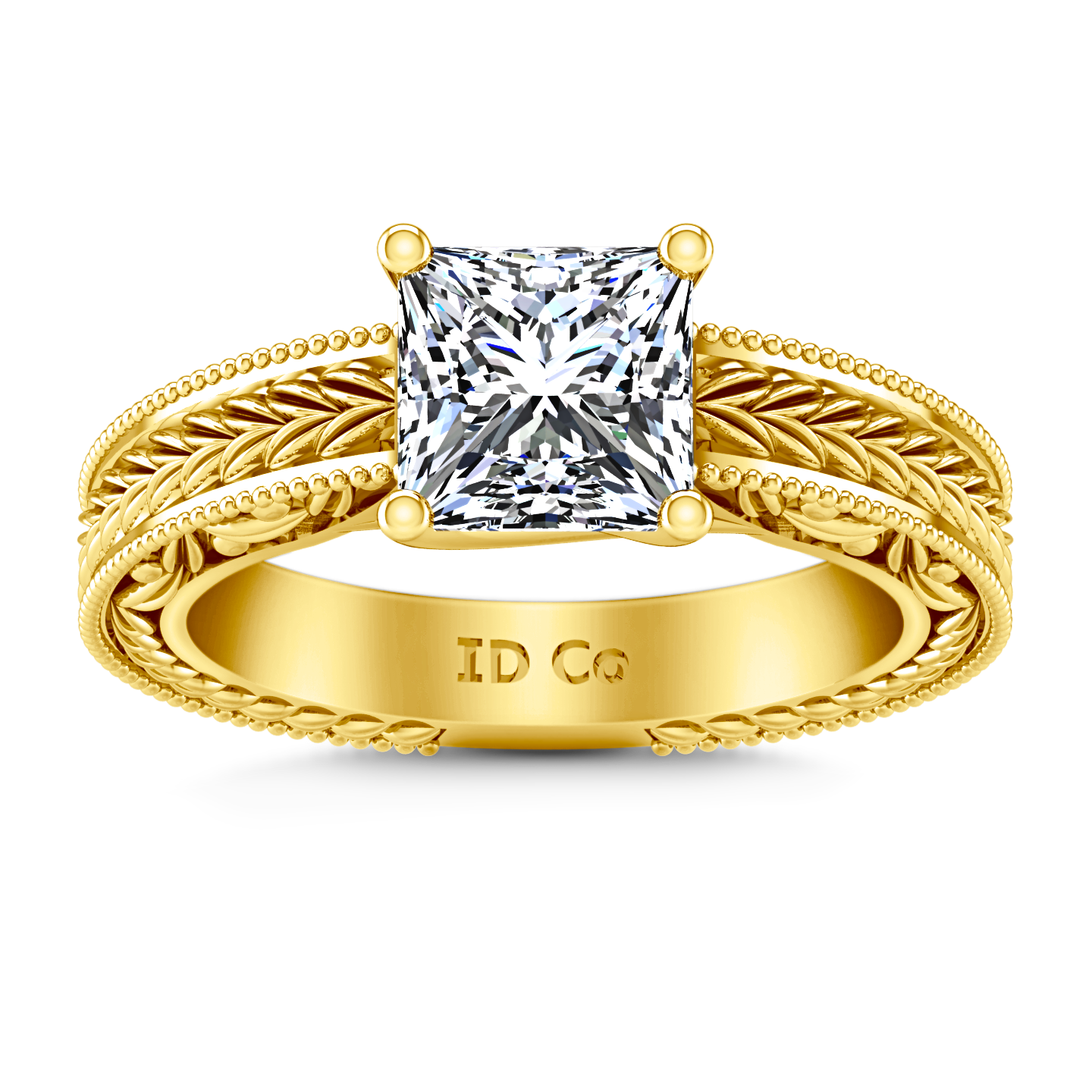 Solitaire diamond engagement rings yellow gold