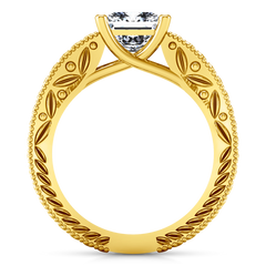 Solitaire Engagement Ring Rowan 14K Yellow Gold
