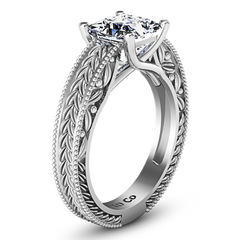 Solitaire Engagement Ring Rowan 14K White Gold