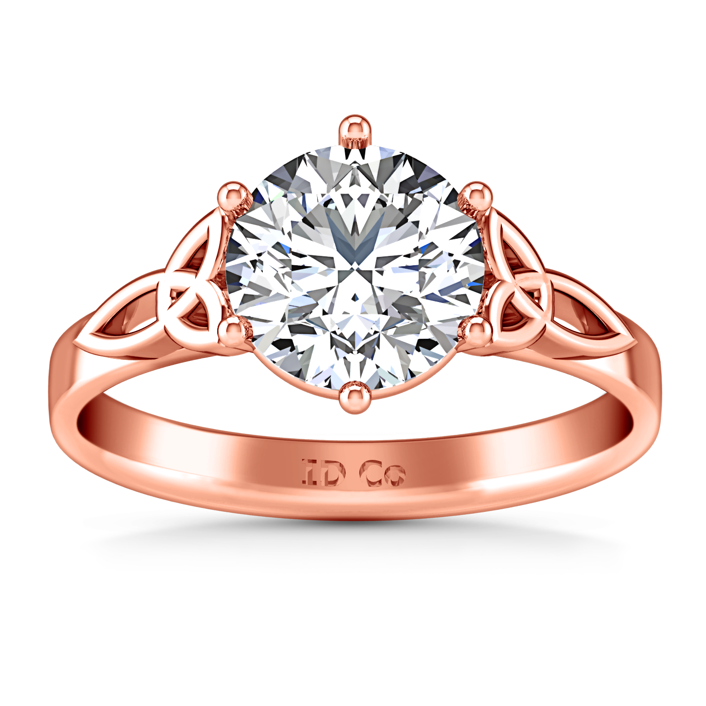 ring imagine ellip r rose rings diamonds stone chantal engagement gold three products