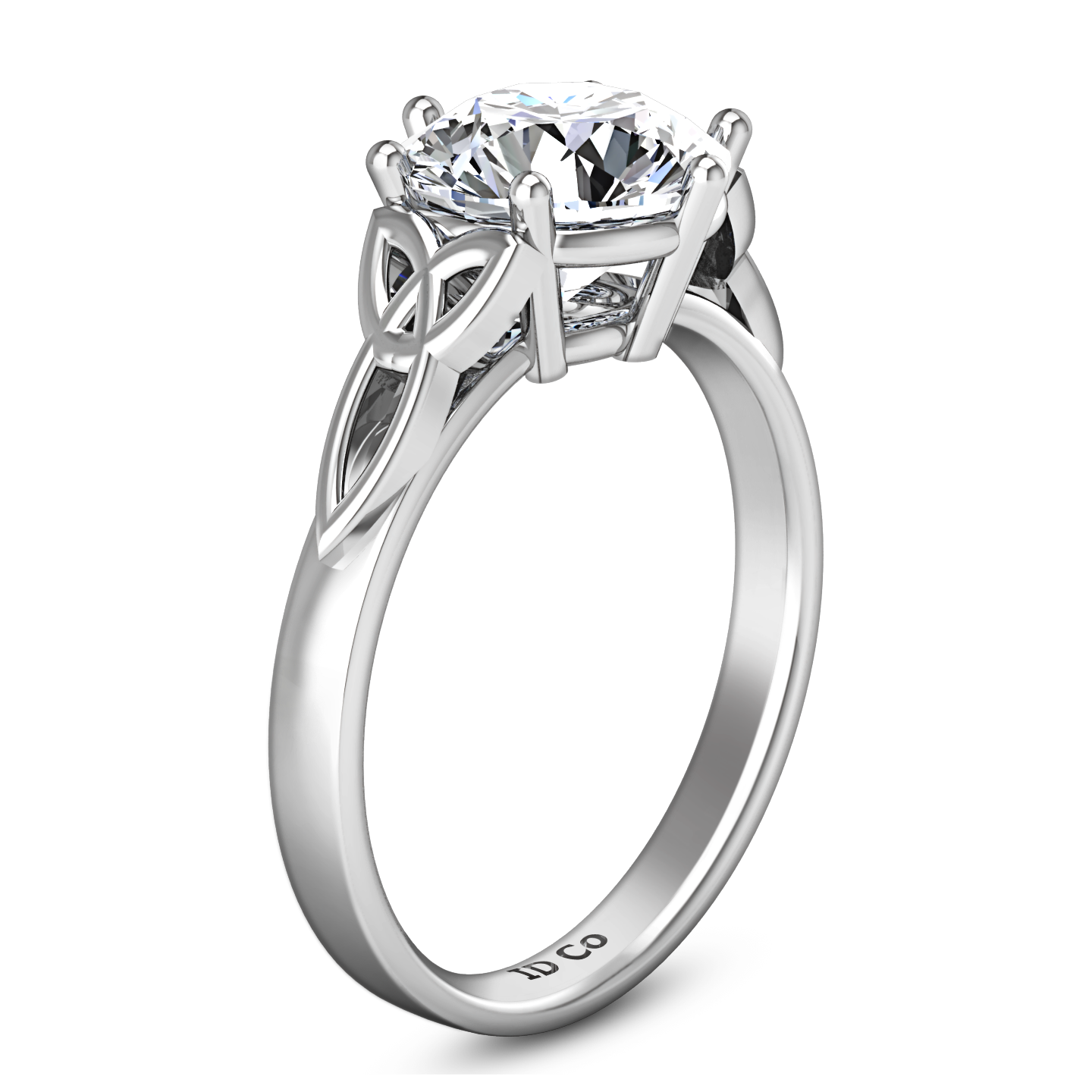 solitaire engagement gold w ring white perp imagine fiona celtic wedding products knot rings