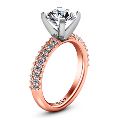 Pave Engagement Ring Gardenia 14K Rose Gold