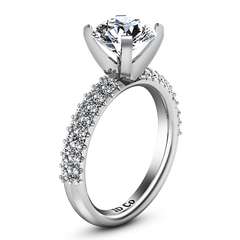 Pave Engagement Ring Gardenia 14K White Gold