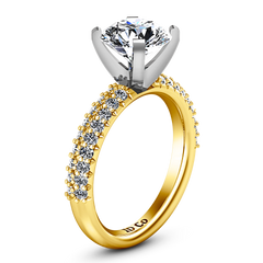 Pave Engagement Ring Gardenia 14K Yellow Gold