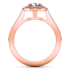 Halo Engagement Ring Violet 14K Rose Gold
