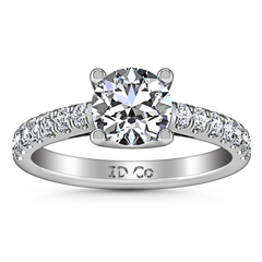 Pave Engagement Ring Zoe 14K White Gold