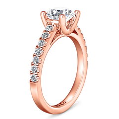 Pave Engagement Ring Zoe 14K Rose Gold