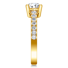 Pave Engagement Ring Zoe 14K Yellow Gold