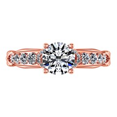 Pave Engagement Ring Flora 14K Rose Gold