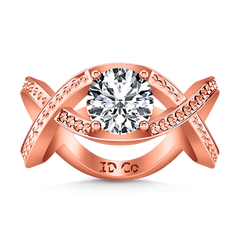 Solitaire Engagement Ring Solagne 14K Rose Gold