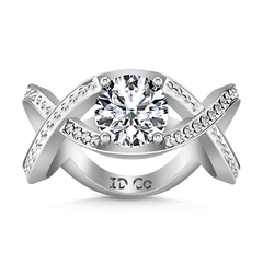 Solitaire Engagement Ring Solagne 14K White Gold