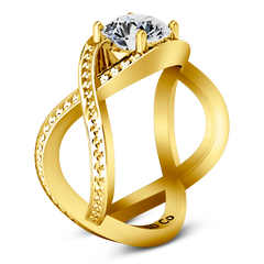Solitaire Engagement Ring Solagne 14K Yellow Gold