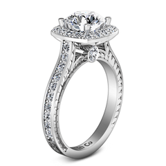 Halo Engagement Ring Heather 14K White Gold