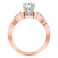 Pave Engagement Ring Chloe 14K Rose Gold