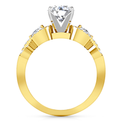 Pave Engagement Ring Chloe 14K Yellow Gold