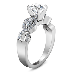 Pave Engagement Ring Chloe 14K White Gold