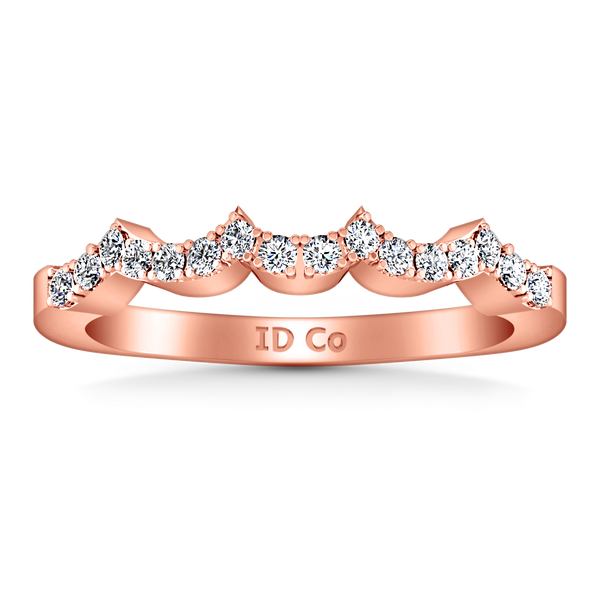 Diamond Wedding Band Chloe 0.25 Cts 14K Rose Gold