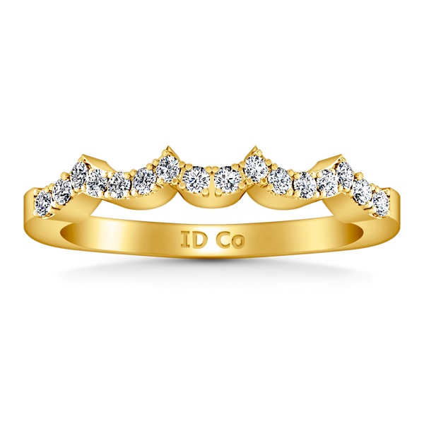 Diamond Wedding Band Chloe 0.25 Cts 14K Yellow Gold