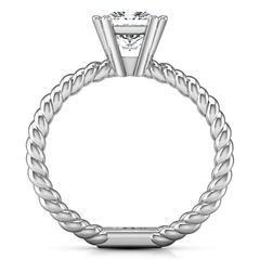 Solitaire Princess Cut Engagement Ring Infinity 14K White Gold