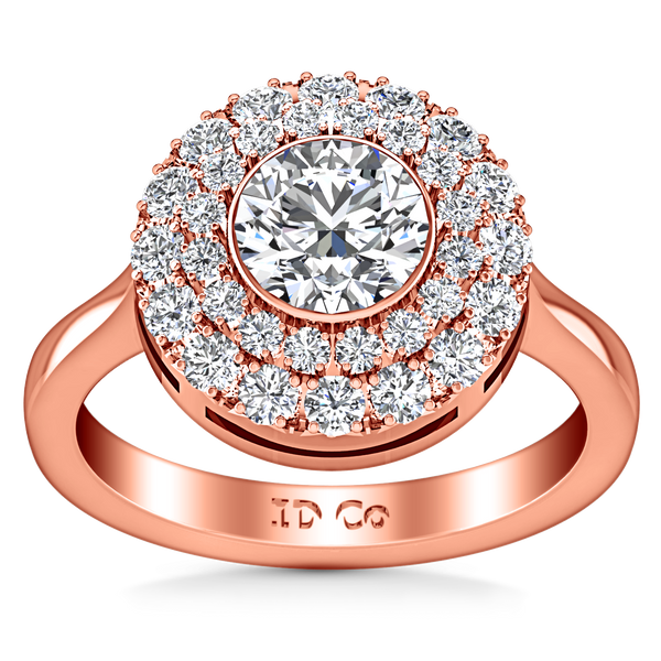Halo Engagement Ring Mandy 14K Rose Gold