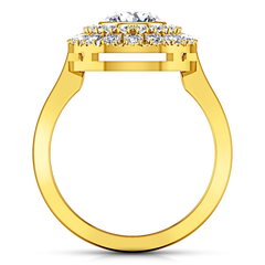 Halo Engagement Ring Mandy 14K Yellow Gold