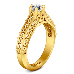 Solitaire Engagement Ring Whitney 14K Yellow Gold