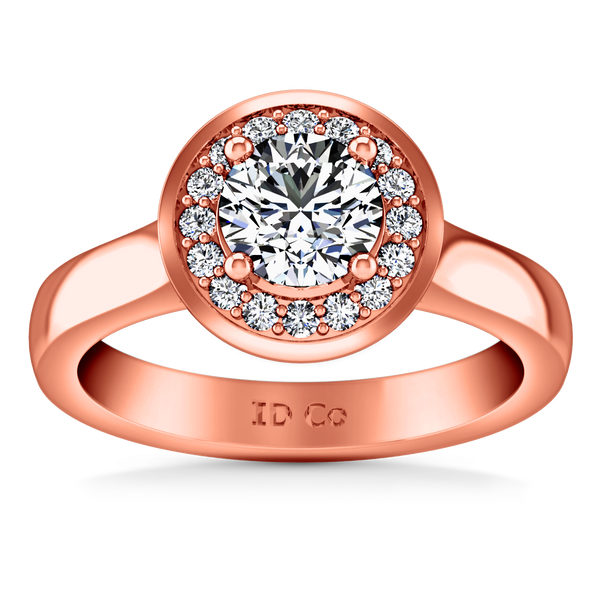Halo  Engagement Ring Erica 14K Rose Gold