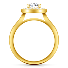Halo  Engagement Ring Erica 14K Yellow Gold