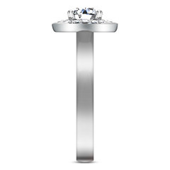 Halo  Engagement Ring Erica 14K White Gold