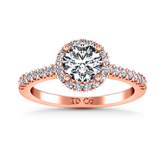 Halo  Engagement Ring Bethany 14K Rose Gold
