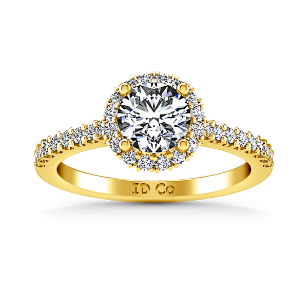 Halo  Engagement Ring Bethany 14K Yellow Gold