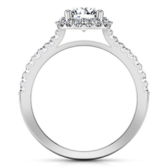 Halo  Engagement Ring Bethany 14K White Gold