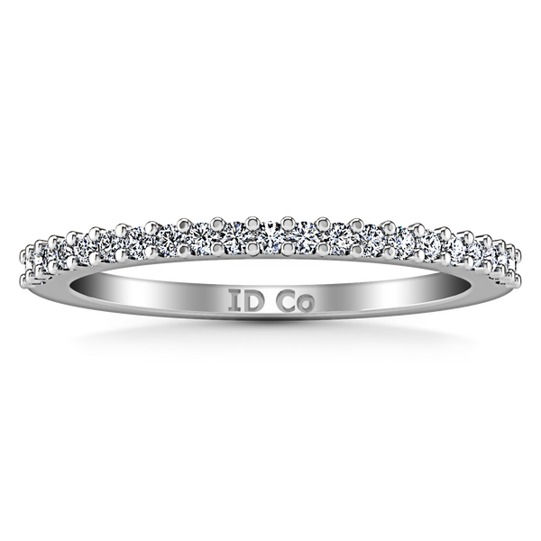 Diamond Wedding Band Bethany 0.25 Cts 14K White Gold