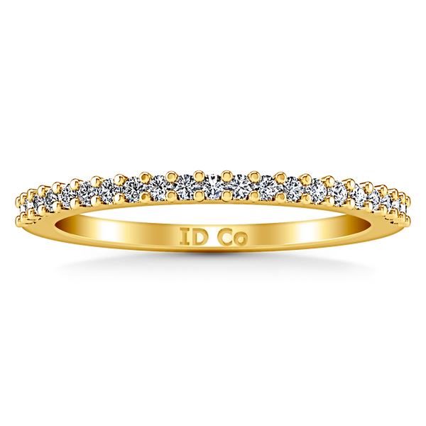 Diamond Wedding Band Bethany 0.25 Cts 14K Yellow Gold