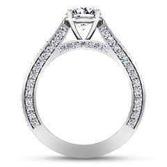 Pave Engagement Ring Elizabeth 14K White Gold