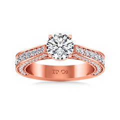 Pave Engagement Ring Elizabeth 14K Rose Gold