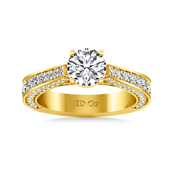 Pave Engagement Ring Elizabeth 14K Yellow Gold